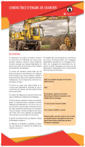 conductrice d engins de chantier
